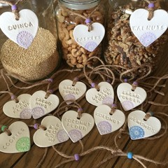 Kitchen / Pantry Clay Charm Labels