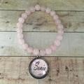 Rose Quartz Bracelet with your name