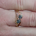 9ct Rose Gold Ring with Bright Blue Sapphires