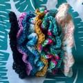 Black Sparkly Hair Scrunchie