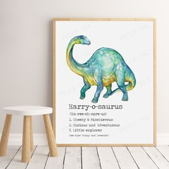 "DINOSAUR (Brontosaurus) Dictionary Print  8x10"""