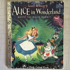 2021 Little Golden Book Upcycled Diary - Alice In W/Land  Meets The White Rabbit