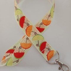 Umbrella fruit print lanyard / ID holder / badge holder