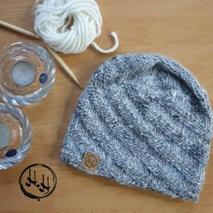 Amager Hand Knit Slouch/Slouchy Beanie Hat - Womens Beanies, Girls Beanies, Wool