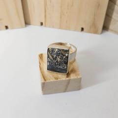 maligano jasper silver ring, size V