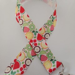 Fruit print lanyard / ID holder / badge holder