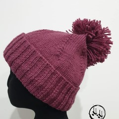 Wool Beanie  Hand Knit - Hand Made - Dusty Plum  Women's Men's Beanie  100% Woll