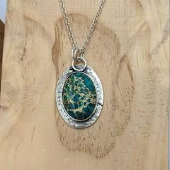 sea sediment jasper sterling silver pendant