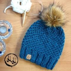 Skagen Hand Knit Chunky Beanie Hat - Womens Beanies, Girls Beanies, Wool Cosy