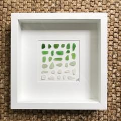 Green sea glass Ombré frame