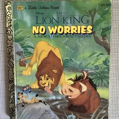 2022 Little Golden Book Upcycled Diary - The Lion King - No Worries