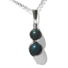 Bloodstone gemstone pendant, Sterling silver wire wrapped