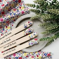 Rainbow Spring Floral Fabric Stud Earrings