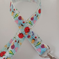 Insect lady buy snail print lanyard / ID holder / badge holder