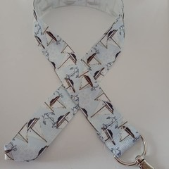 Light blue sailing boat lanyard / ID holder / badge holder