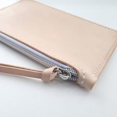 Handstitched Italian Leather Zip Purse