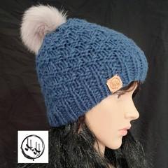 Esbjerg Hand Knit Chunky Beanie Hat - Small Unisex Beanie, Girls or Boys Beanie,