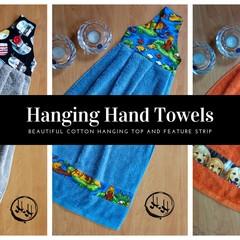 Large Hanging Hand Towels - Loop - Kitchen - Bathroom - Laundry - Caravan