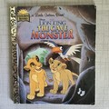 2021 Little Golden Book Upcycled Diary - The cave Monster