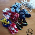 Baby Hand Knit Footy Booties - Baby Booties for Babies - NRL Footy