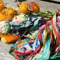 Recycled Silk Sari Ribbon ~ * Recycled Silk from India *~ 100gram Pattern