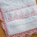 3 Piece Baby Set Bath Towel Bib & Washer