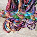 Recycled Silk Sari Ribbon ~ * Recycled Silk from India *~ 100gram Gliterry Glam
