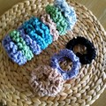 Crochet adult crochet scrunchies