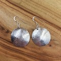 circles silver domed disc earrings