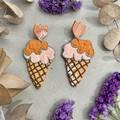 Polymer clay earrings - statement earrings Icecreams