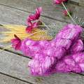 ~*~  Recycled Silk Ribbon from India approx 100g Skein Pink Frizz ~*~
