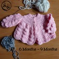 Baby set Hand Knit - Baby's Matinee Jacket in Pink - Baby Matinee Jacket