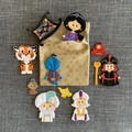 Aladdin Finger Puppets and Quiet Book Page / Storage Pocket