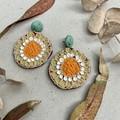 Polymer clay jewellery- statement earrings Sunflowers
