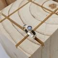 sterling silver labradorite ring, size R