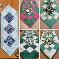 Patchwork Table Runner  - Quilted - Christmas - Daffodil - Iris - Pansy - Tulip