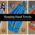 Large Hanging Hand Towels - Loop - Kitchen - Bathroom - Laundry - Caravan