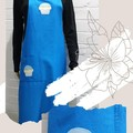 Unique One of a Kind Adult Apron - Applique - Handmade - Butterflies - Cupcakes
