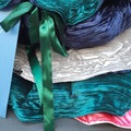 Hand Made Forest Green and Ink Blue  Velvet Pet Beds