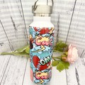 Personalised name with picture  drink bottle great for teachers, school or home