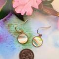 Multi-coloured Rose Gold Drop Earrings