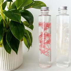 HANDMADE FLORAL DECOR BY EN FLOR - THE HYDRANGEA S BOTANICAL BOTTLE