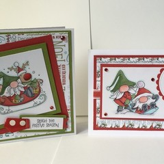 Christmas Gnome Pair of Cards 2