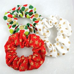 Christmas Collection - Christmas Scrunchies - traditional colours
