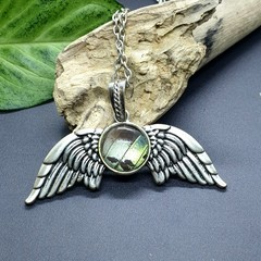 Angel wing necklace - butterfly wing (multiple colour options available)