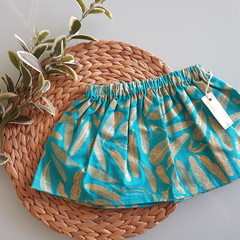 Turquoise & Gold Feather Skirt Size 1, 4, 5 & 6