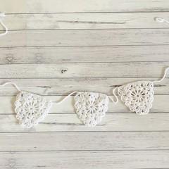Crochet bunting, handmade wall art, preorder