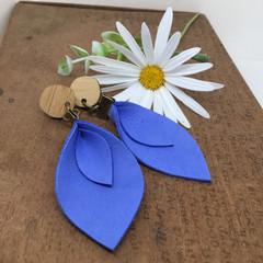 Blue Leather earrings