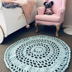 Crochet Floor Rug, Floor mat, Play Mat