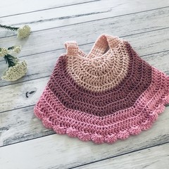 Crochet top, baby girls handmade top, backless cross strap top